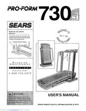 Proform SEARS 730si Manuals