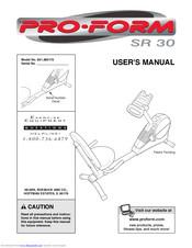 Pro-form SR 30 Manuals