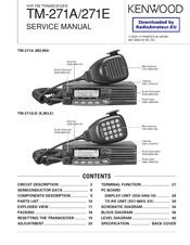 Kenwood TM-271A Manuals