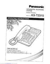 Panasonic EASA-PHONE KX-T2315 Manuals