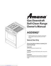 Amana AGDS902 Series Manuals