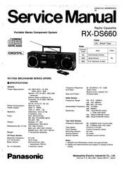 Panasonic RX-DS660 Manuals