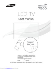 Samsung UN46ES7500 E- Manuals