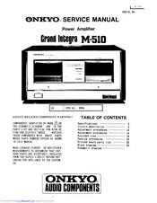 Onkyo Grand Integra M-510 Manuals