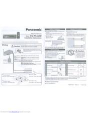 Panasonic CQ-RX450W Manuals