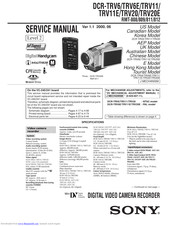 Sony Handycam DCR-TRV20 Manuals