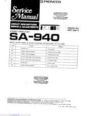 Pioneer SA-940 Manuals