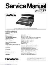 Panasonic Ramsa WR-DA7 mkII Manuals
