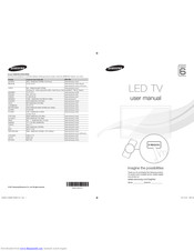 Samsung UE40D6000 Manuals