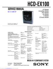Sony HCD-EX100 Manuals