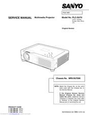 Sanyo PLC-SU70 Manuals