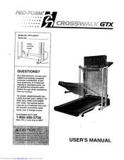 Pro-form Crosswalk GTX Manuals