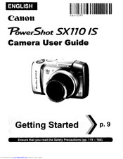 Canon PowerShot SX110 IS Manuals