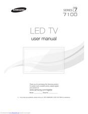 Samsung UN65F7100 Manuals