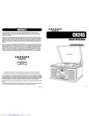 Crosley CR245 Manuals