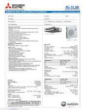 Mitsubishi Electric PUY-A36NHA4 Manuals