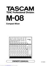 Tascam M-08 Manuals