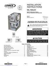 Lennox ML180UH SERIES Manuals