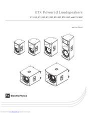 Electro-voice ETX-15P Manuals