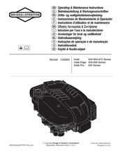 Briggs & Stratton Intek 875 Series Manuals