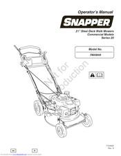Snapper 7800849-01 20 series Manuals