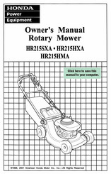 Honda HR215SXA Manuals