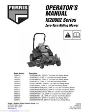 Ferris IS500Z Series Manuals