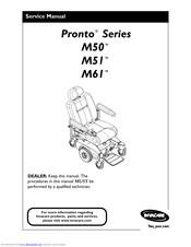 Invacare Wheelchair Pronto M61 Manuals