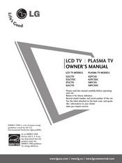 Lg 50PC5D-UC Manuals
