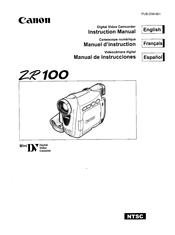 Canon ZR100 Manuals