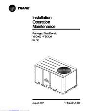 Trane YSC120 Manuals