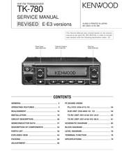 Kenwood TK-780 series Manuals