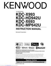 Kenwood KDC-X693 Manuals
