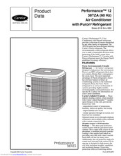 Carrier Performance 12 38TZA042-33 Manuals