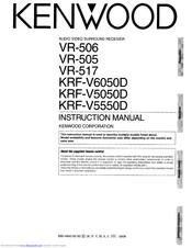 Kenwood VR-517 Manuals