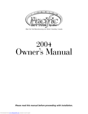 Aber Hot Tub Manufacturing Pacific 2004 Manuals