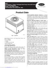 Carrier Performance 50VT Manuals