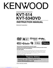 Kenwood KVT-534DVD Manuals