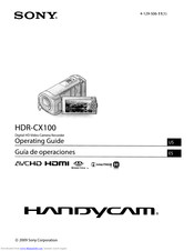 Sony HANDYCAM HDR-CX100 Manuals