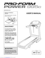 Pro-form Power 995c Manuals
