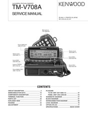 Kenwood TM-V708A Manuals