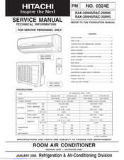 Hitachi RAC-35NH5 Manuals