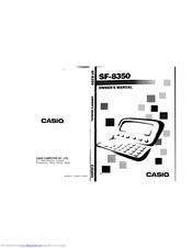 Casio SF-8350 Manuals