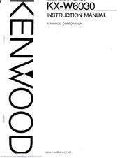 Kenwood KX-W6030 Manuals