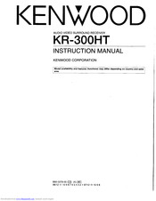 Kenwood KR-300HT Manuals