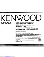 Kenwood DPX-600 Manuals