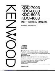 Kenwood KDC-5003 Manuals