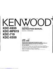 Kenwood KDC-MP819 Manuals