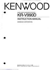 Kenwood KR-V990D Manuals