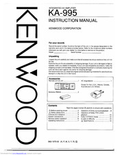 Kenwood KA-995 Manuals